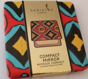 Danielle Creations Watercolor Stripe Color Compact Beauty Mirror 2X Mag $25 NEW
