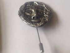 the Green man code dr84 Fine English Pewter on a tie stick pin Hat Scarf