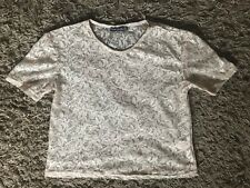 Primark Atmosphere Ladies Womens Cropped Lace Style Top (Pink/Gold) - UK Size 10