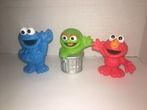 Lot of 3 Hasbro Sesame Street Workshop PVC Figure Replacement Toy Cake Top