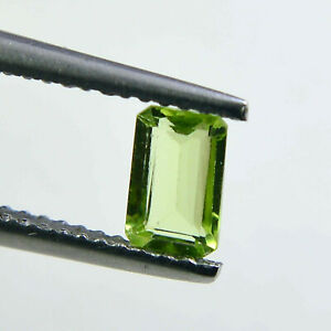 7x5 mm Natural Peridot Faceted Octagon Loose Gemstone For Jewelry Supply P-160
