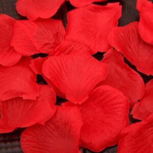 100PCS RED SILK ROSE PETALS FLOWER CONFETTI WEDDING ENGAGEMENT DECORATION G0A E