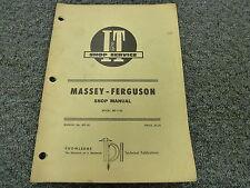 Massey Ferguson 1150 Farm Utility Tractor Shop Service Repair Manual Book Mf30