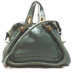 Chloe Shoulder Bag Paraty Pale Green Leather 1410476