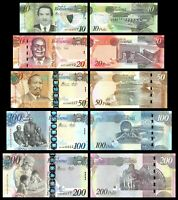 BOTSWANA SET 5 Pcs 10-20-50-100-200 PULA 2012-2018 P-31 to P-35 NEW-UNC