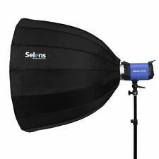 "Selens 70cm 28"" Deep Octa Parabolic Umbrella For Studio Flash Light Bowens Mount"