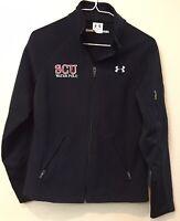 WOMEN'S UNDER ARMOUR UA Fleece Jacket Black Semi-Fitted MEDIUM SCU Water Polo