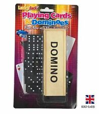 28Pc DOMINOES SET Traditional Game Play Wooden Box Kids Children Birthday Gift