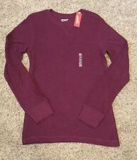 New Arizona Young Mens Shirt Long Sleeve Solid Burgundy Red Small