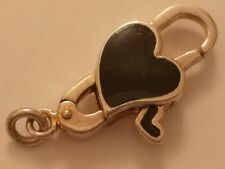 Heart  Bacio sterling silver bead clasp