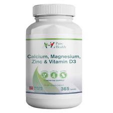 A to Z Puro salud de calcio, magnesio, zinc y vitamina D3, 365 comprimidos
