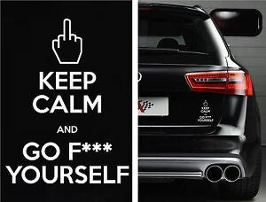 Keep Calm funny car van, bumper, windows, laptop, lorry JDM vinyl decal sticker