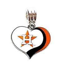 LOVE HOUSTON ASTROS BASEBALL CHARM SLIDE PENDANT NECKLACE EUROPEAN BRACELET DIY