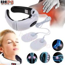 Neck Back Electric Pulse Cervical Massager Relief Vertebra Instrument Treatment