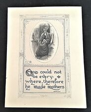 """Vintage 7""""x 9"""" Green Bay Post Card Company--Quote about Mothers"""