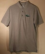 Lacoste Men's Short Sleeve Gray W/ BIG Gator Polo Shirt Size: 7 XL Extra Large