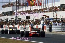 THIERRY BOUTSEN Williams FW13B WINNER ungherese GRAND PRIX 1990 fotografia 2