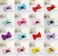 Kids Baby Girl's Bow Ribbon Hair Bow Mini Latch Clips Hair Hairpins Gifts