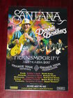 SANTANA - THE DOOBIE BROTHERS - 2017 Australian Tour - Laminated Promo Poster