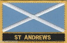 St Andrews Scotland Town & City Embroidered Sew on Patch Badge