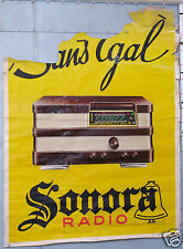 RADIO SONORA SANS EGAL AFFICHE ANCIENNE