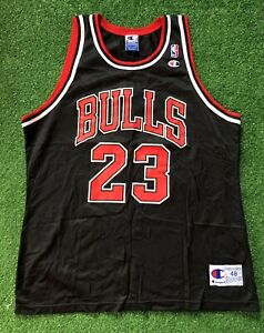 Vintage Champion 90s NBA Chicago Bulls Jersey Jordan #23 Men's 48 USA