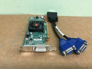 Dell Optiplex 960 980 990 SFF Low-Profile Dual VGA Monitors Video Card PCI-e x16