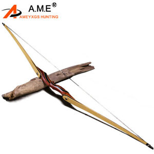 "62"" Archery Longbow American Hunting Bow Takedown Recurve Bow 25-55lbs"