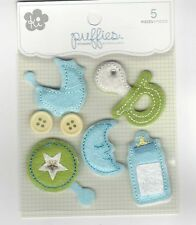 KI - PUFFIES Baby Boy and Happy Day 3D Scrapbooking Stickers