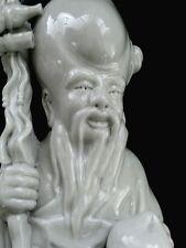 """Fine antique Chinese dehua blanc de chine figurine of Shou-lao 9.5""""/24 cm"""
