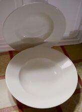 """(2) Made in England Steelite Distinction Juliette 11 & 11.5"""" Serving/Pasta Bowls"""