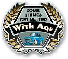 Koolart Crest BETTER WITH AGE Slogan & Mk1 Ford Escort RS Mexico Car Sticker