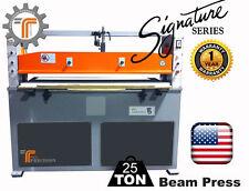 NEW!! CJRTec 25 Ton Beam Clicker Press Hydraulic Die Cutting Machine
