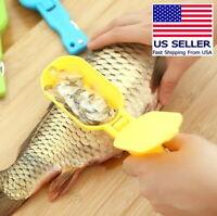 Durable Plastic Fish Scale Remover Scraper Cleaner Scaler Peelers - Random Color