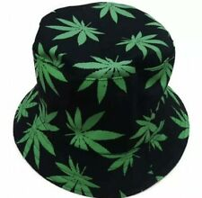 Bucket Hat Unisex Ganja Weed Cannabis Leaf / Cotton / Reversible / Rasta