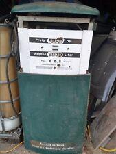 Zapfsäule Salzkotten grün / Emaille / Rarität / komplett und funktionstüchtig