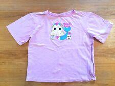 PRIMARK GIRLS T-SHIRT TOP 5 6 116 PINK BEACH BABE MERMAID