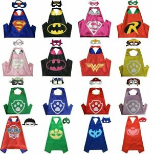 Superhero Capes Costume Cape & Mask Kids Girls Boys Spiderman Mask