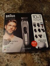 Braun all in One Trimmer 7 MGK7221 Barber Hair Clippers 10 In 1 Shave & Trim Kit