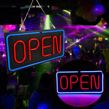 """Bright Led Open Sign Light Window Wall Horizontal Hanging Sign Lamp 24""""x12"""" 30W"""