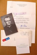 James A Hickey lettre 1981 Cardinal Archevêque Archbishop Washington + photo USA
