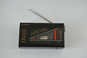 ACIKO AWR-521 Stereo BOOMBOX Miniature Cassette RECORDER FM Radio WEST GERMANY