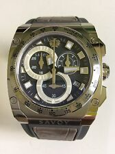 Savoy Men's Watch Icon Extreme Grey Rubber Strap Chrono S1.11B1T.1001.R10001