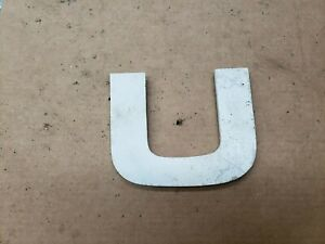 """Solid Aluminum Letter """" U """" 5 1/2"""" inches tall, Industrial Decor"""