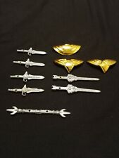 Power Rangers flip head weapons and Green Rangers shield