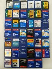 SD Memory Cards 8MB 16MB 64MB 128MB 256MB 512MB 1GB Formatted FAT32 SanDisk ++