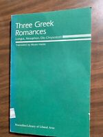 Three Greek Romances by Hadas, Moses 1986 14th