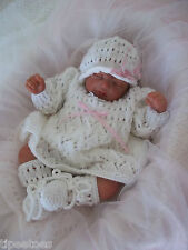 Baby Knitting Pattern DK 21 TO KNIT Girls or Reborn Dolls Dress Hat Bootees