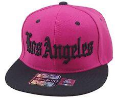 NEW LOS ANGELES LA 3D EMBROIDERY FLAT BILL SNAPBACK CAP HIP HOP HAT PINK/BLACK