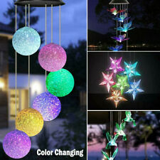 Solar Wind Chimes Lights LED Garden Outdoor Color Changing Hanging Waterproof US
